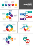 Businessman multipurpose infographic element flat design set. Businessman multipurpose infographic element templates flat design set for brochure flyer Stock Images