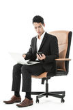Businessman multitasking Royalty Free Stock Photography
