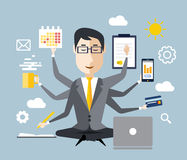 Businessman With Multitasking Stock Images