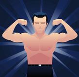Businessman muscles Royalty Free Stock Photography