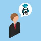 Businessman music streaming design Stock Photos