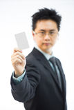 Businessman name card Stock Image