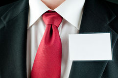 Businessman with nametag Stock Photography
