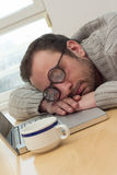 Businessman napping Stock Photography