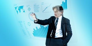 Free Businessman Navigating Interface In Future Royalty Free Stock Images - 13644529