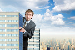 Businessman near the office building Royalty Free Stock Photography