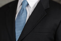 Businessman neck tie detail Stock Image