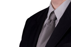 Businessman neck tie detail Royalty Free Stock Photo