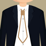 Businessman necktie with rope Stock Photos