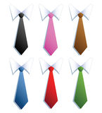 Businessman neckties with six different colors. Stock Photography