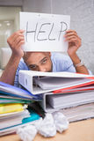 Businessman in need of help Royalty Free Stock Photography