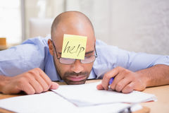 Businessman in need of help Stock Photos