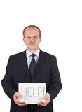 Businessman needs help Royalty Free Stock Images