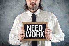 Businessman needs work Stock Photos