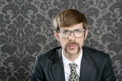 Businessman nerd retro glasses  portrait Stock Image