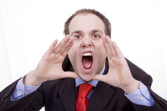 Businessman nervous Stock Image