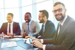 Businessman networking Royalty Free Stock Image