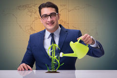 The businessman in new business concept Royalty Free Stock Photo
