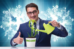 The businessman in new business concept Royalty Free Stock Photography