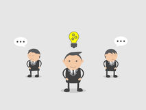 Businessman with new idea. Doodle vector illustration cartoon character abstract concept. Royalty Free Stock Photography