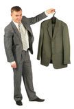 Businessman with new suit Stock Image