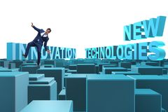 The businessman in new technologies concept royalty free stock photo