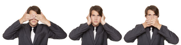 Businessman - no evil royalty free stock photography
