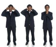Businessman - no evil Stock Images