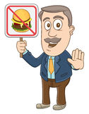 Businessman -  No food sign Royalty Free Stock Image
