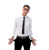Businessman with no money Stock Image
