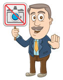 Businessman -  No photo sign Stock Photo