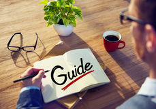 Businessman with Note About Guide Concepts Stock Images