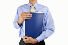 Businessman with notebook Royalty Free Stock Photography