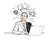 Businessman with notebook Stock Photography