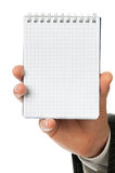 Businessman with notebook Stock Image