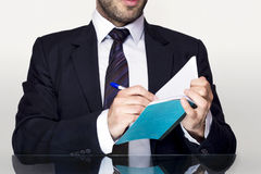 Businessman notebook Stock Images