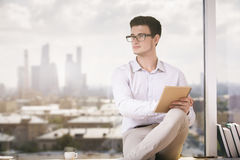 Businessman with notepad Royalty Free Stock Photo