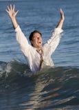Businessman in Ocean Royalty Free Stock Photo