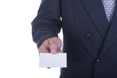 Businessman offer blank business card Stock Images