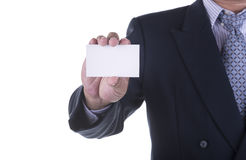 Businessman offer blank business card Stock Photography