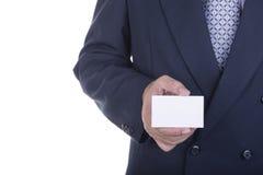 Businessman offer blank business card Stock Photos