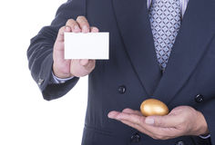 Businessman offer blank business card Royalty Free Stock Photos