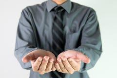 Businessman offer hand stock photos