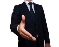 Businessman offering for handshake Stock Images