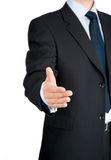 Businessman offering for handshake Royalty Free Stock Photo