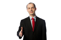 Businessman offering a handshake Stock Images