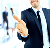 Businessman offering a handshake Royalty Free Stock Photography
