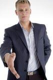 Businessman offering handshake Stock Photos