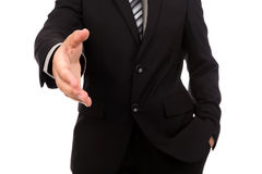 Businessman offering for handshake Royalty Free Stock Photography