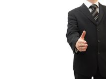 Businessman offering handshake to you.  Royalty Free Stock Photography